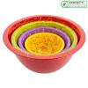 Confetti Mixing Bowl Set, Red, Kiwi & Orchid, 4-piece set image