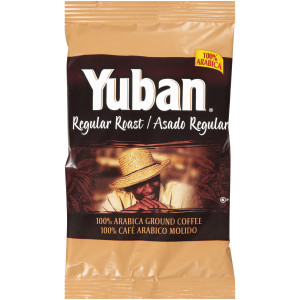 YUBAN Regular Roast & Ground Coffee, 1.1 oz. Pouches (Pack of 42) image