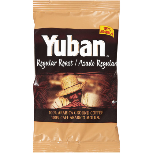 YUBAN Regular Roast & Ground Coffee, 1.1 oz. Pouches (Pack of 42)