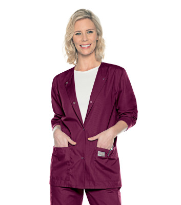 Scrub Zone NEW 3 Pocket Scrub Jacket-Landau
