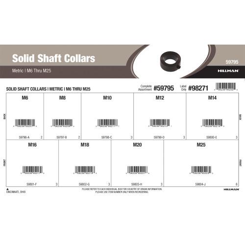 Metric Solid Shaft Collars Assortment