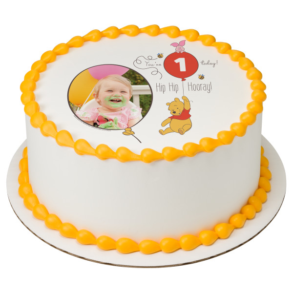Disney Baby Winnie the Pooh You're 1 Today! PhotoCake® Edible Image® Frame