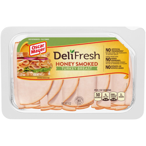 Oscar Mayer Deli Fresh Honey Smoked Turkey Breast 9 oz Tray