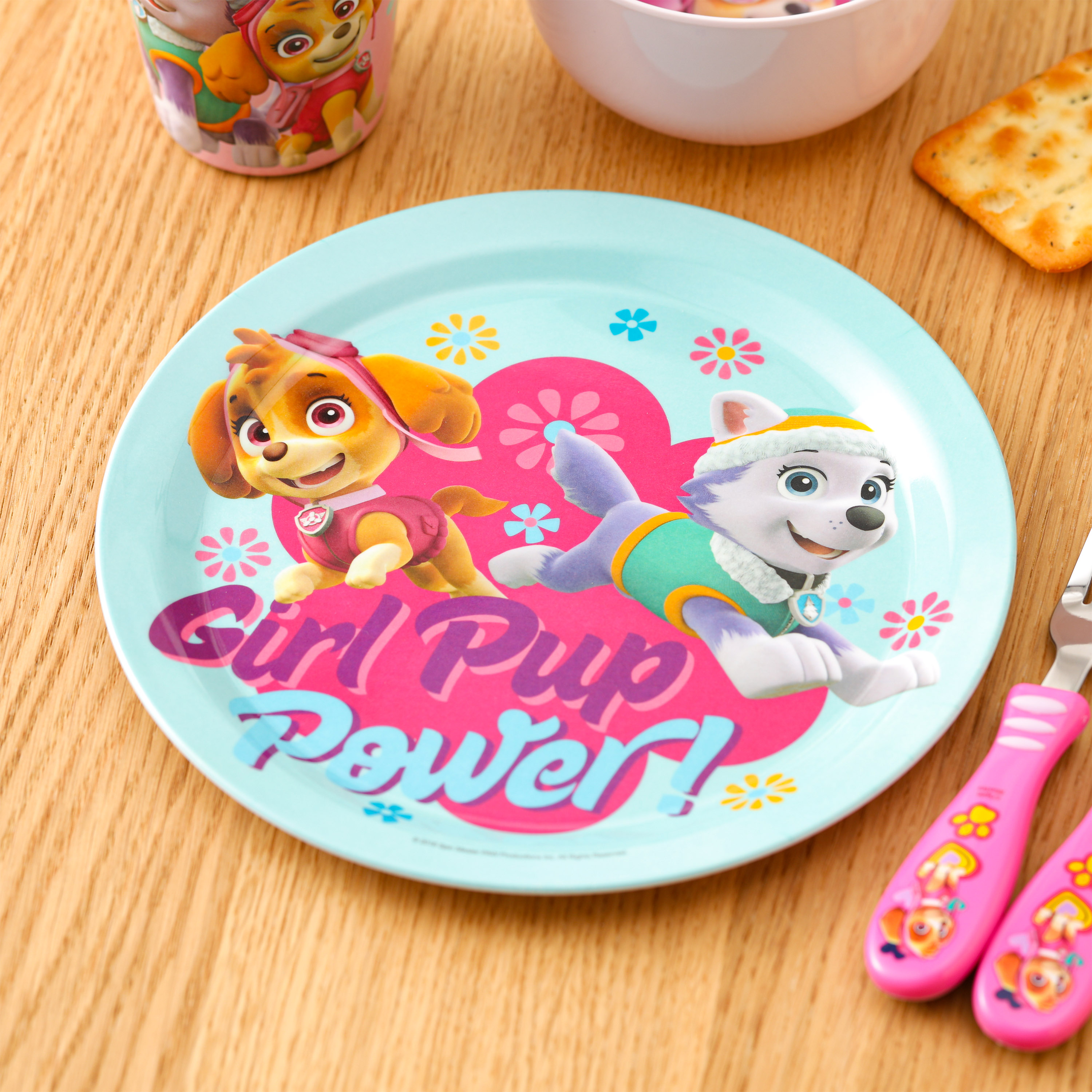 Paw Patrol Dinnerware Set, Skye and Everest, 5-piece set slideshow image 4