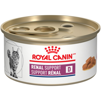 Royal Canin Veterinary Diet Feline Renal Support D Thin Slices in Gravy Canned Cat Food