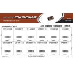 """Black Chrome Steel Spacers Assortment (1/4"""" & 5/16"""" Inner diameter)"""