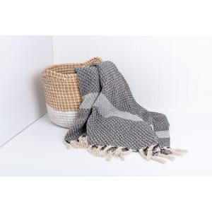 Isha - Raw Cotton Throw