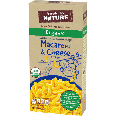 Back to Nature Organic Macaroni & Cheese Dinner 6 oz Box