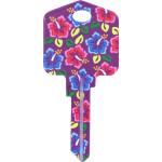 Kool Keys Hibiscus Flowers Key Blank