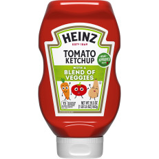Heinz Tomato Ketchup with a Blend of Veggies, 19.5 oz Bottle image