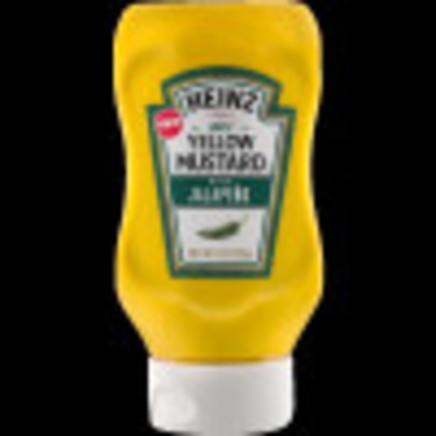 Heinz Spicy Yellow Mustard with Jalapeno, 8 oz Bottle