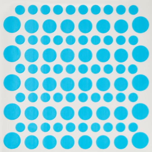 Pastel Blue Printed Dots Fondant DecoShapes®
