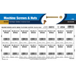 Slotted Flat-Head Brass Machine Screws and Nuts Assortment (#10-24 & #10-32)