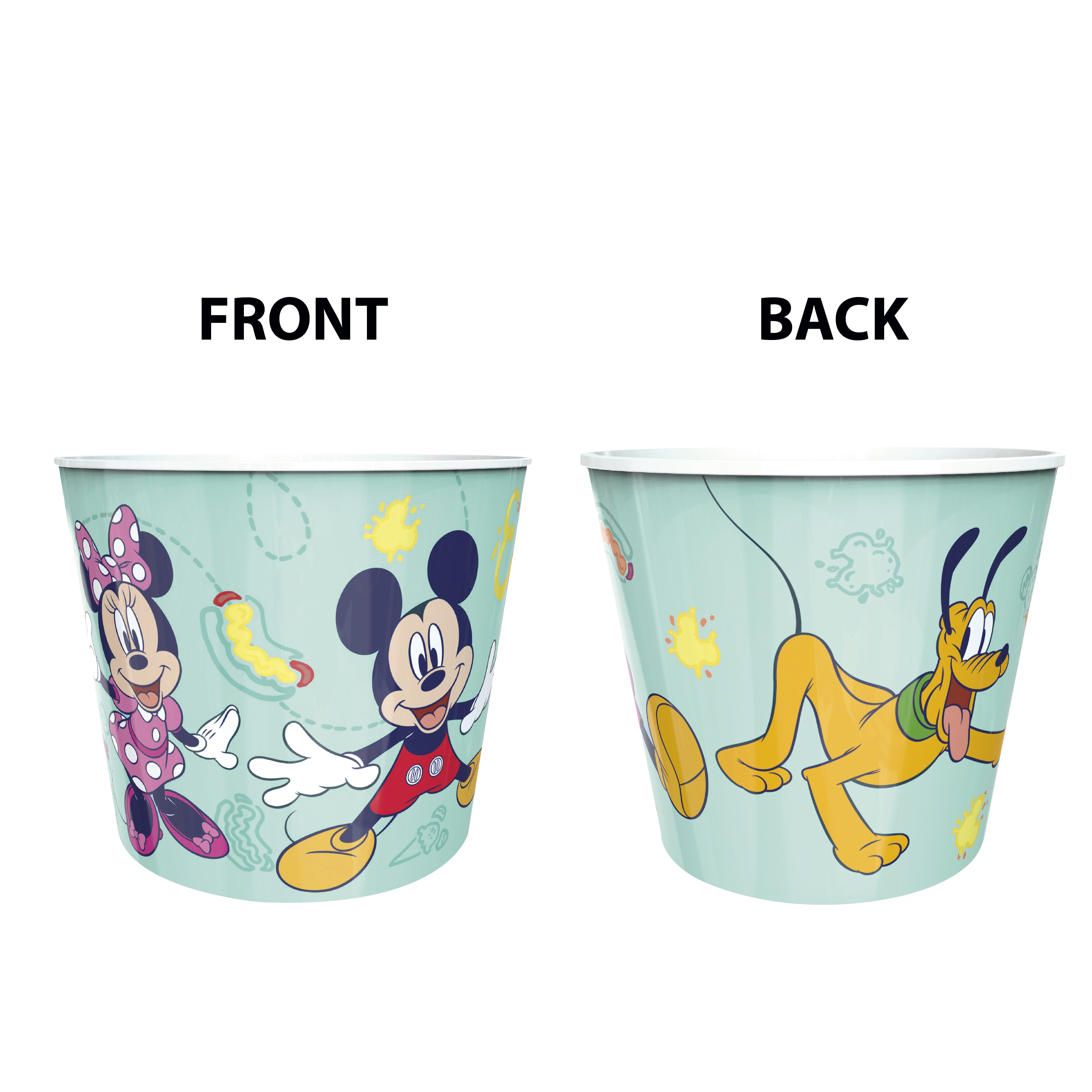 Disney Plastic Popcorn Container and Bowls, Mickey Mouse and Minnie Mouse, 5-piece set slideshow image 9