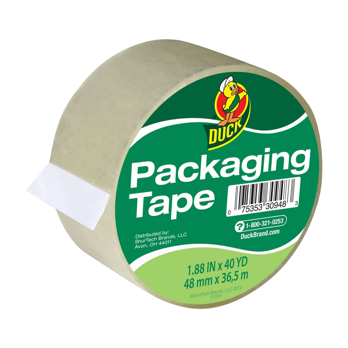 Duck® Brand Standard Packaging Tape - Clear, 1.88 in. x 40 yd. Image