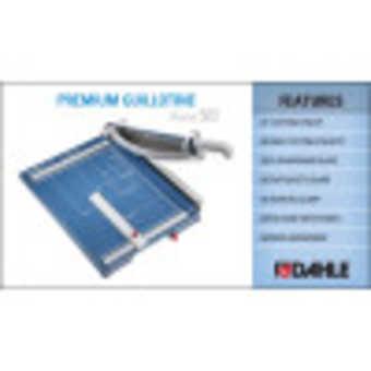 Dahle 565 Premium Guillotine InfoGraphic