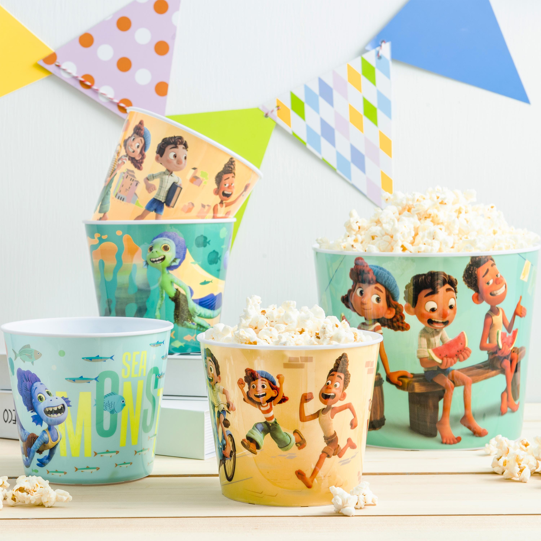 Disney and Pixar Plastic Popcorn Container and Bowls, Luca, 5-piece set slideshow image 2