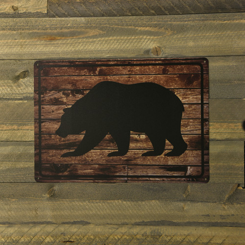 Black Bear Novelty Sign (10