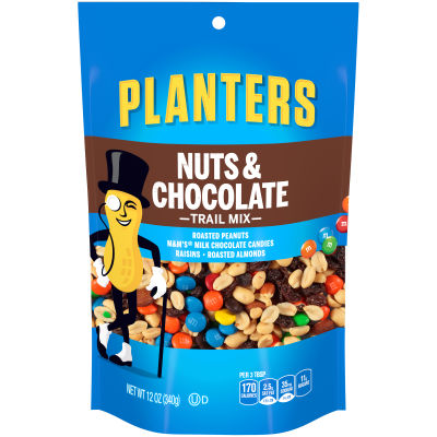 Planters Nuts & Chocolate Trail Mix 12 oz Bag
