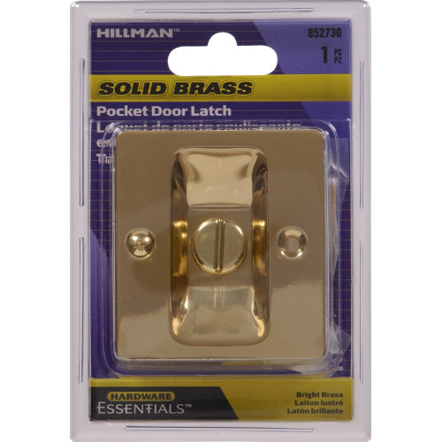 Solid Brass/Bright Brass Pocket Door Latch