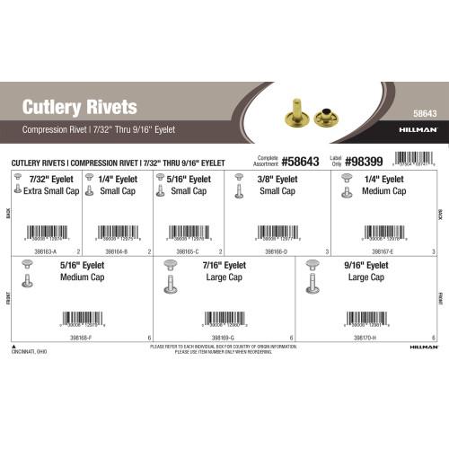 Compression Cutlery Rivets Assortment (7/32