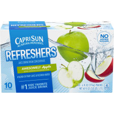Capri Sun Fruit Refreshers Awesomely Apple Juice Drink, 10 ct - Pouches, 60.0 fl oz Box
