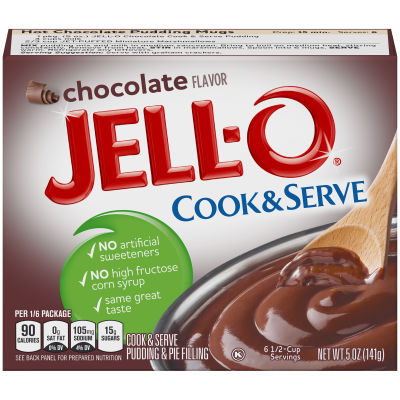 Jell-O Cook & Serve Chocolate Pudding & Pie Filling 5 oz Box