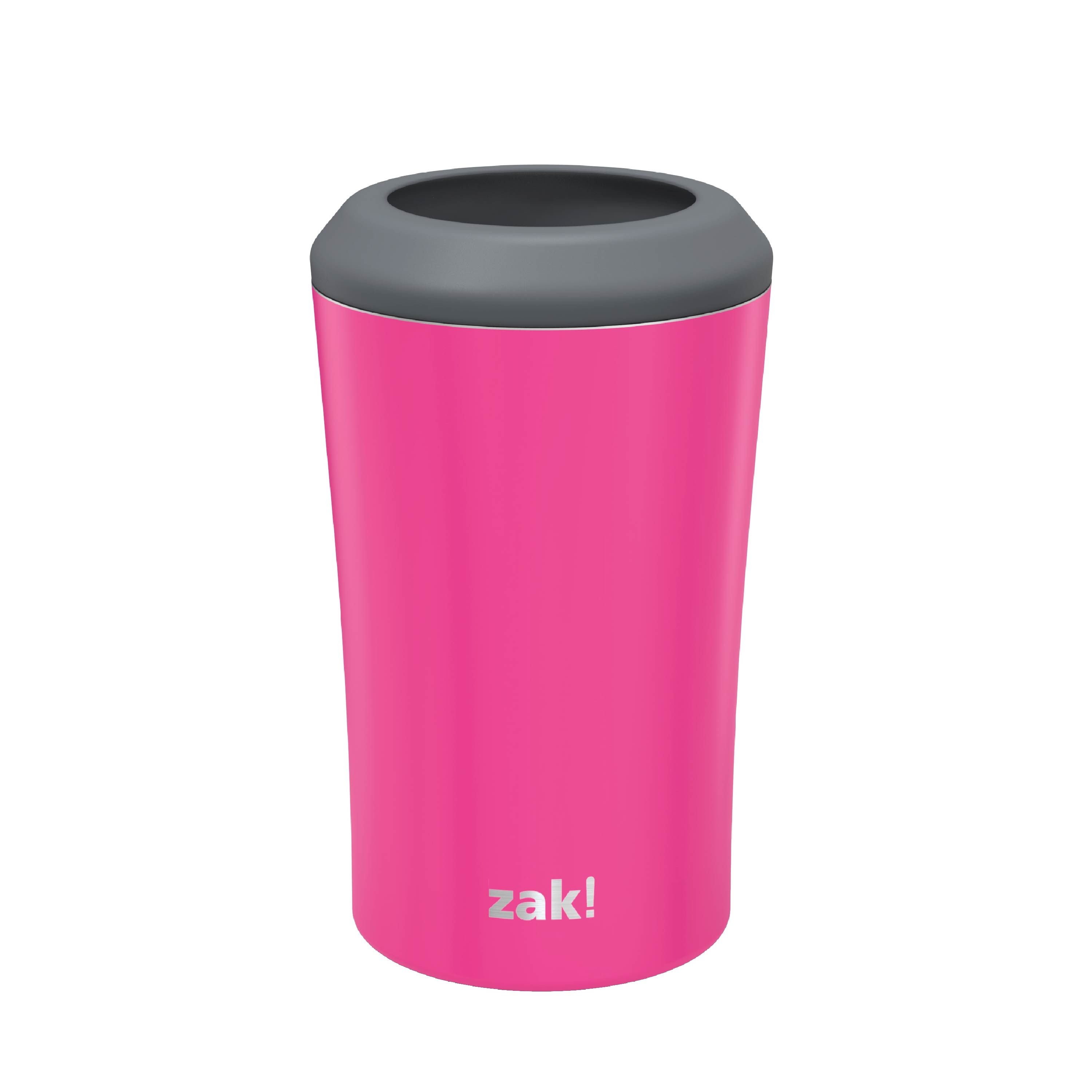 Zak Hydration 12 ounce Double Wall Stainless Steel Can and Bottle Cooler with Vacuum Insulation, Raspberry slideshow image 2