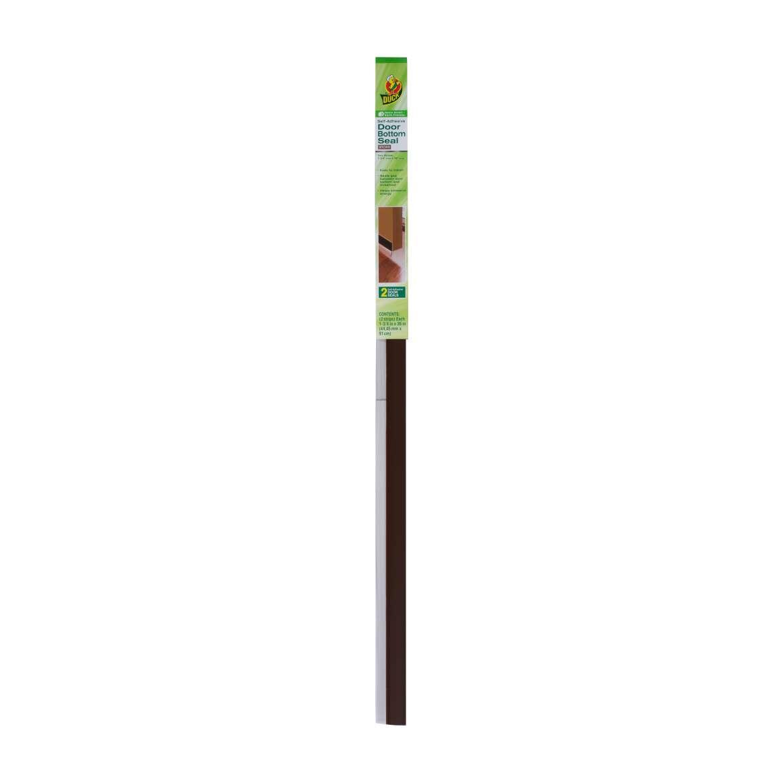 Duck® Brand Self-Adhesive Door Bottom Seal - Brown, 2.5 in. x 38 in. Image