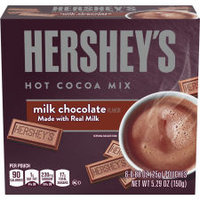 Hershey's Milk Chocolate Hot Cocoa Mix, 6 ct - Packets, 5.29 oz Box