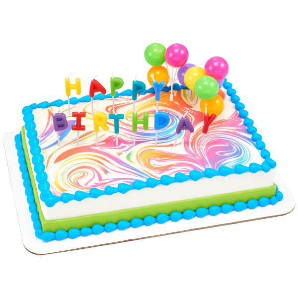 Happy Birthday Neon Candles DecoSet®