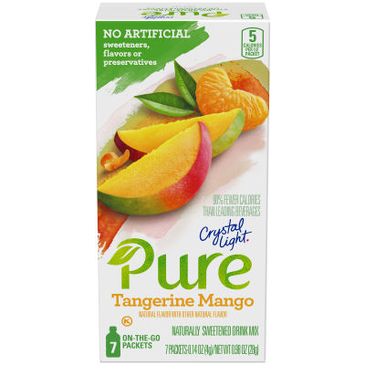 Crystal Light Pure Tangerine Mango Drink Mix 7 - 0.14 oz Packets