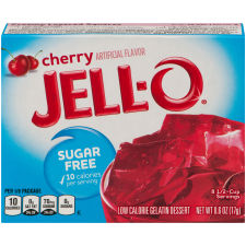 Jell-O Cherry Sugar Free Gelatin Mix 0.6 oz Box