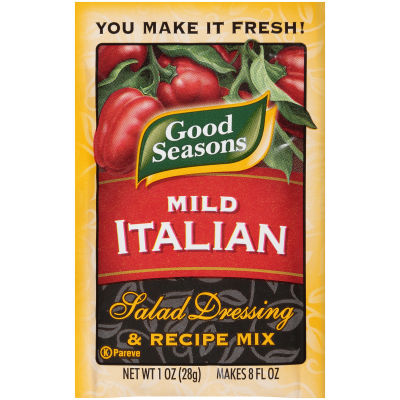 Good Seasons Mild Italian Salad Dressing and Recipe Mix 1 oz single packet