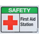 "Aluminum First Aid Safety Sign 10"" x 14"""