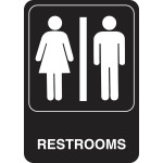 Unisex Restroom Adhesive Sign With Graphic