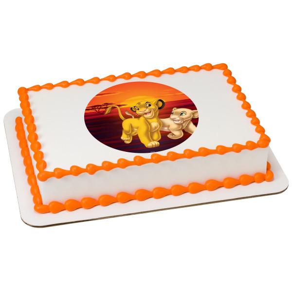 The Lion King Simba and Nala PhotoCake® Edible Image®