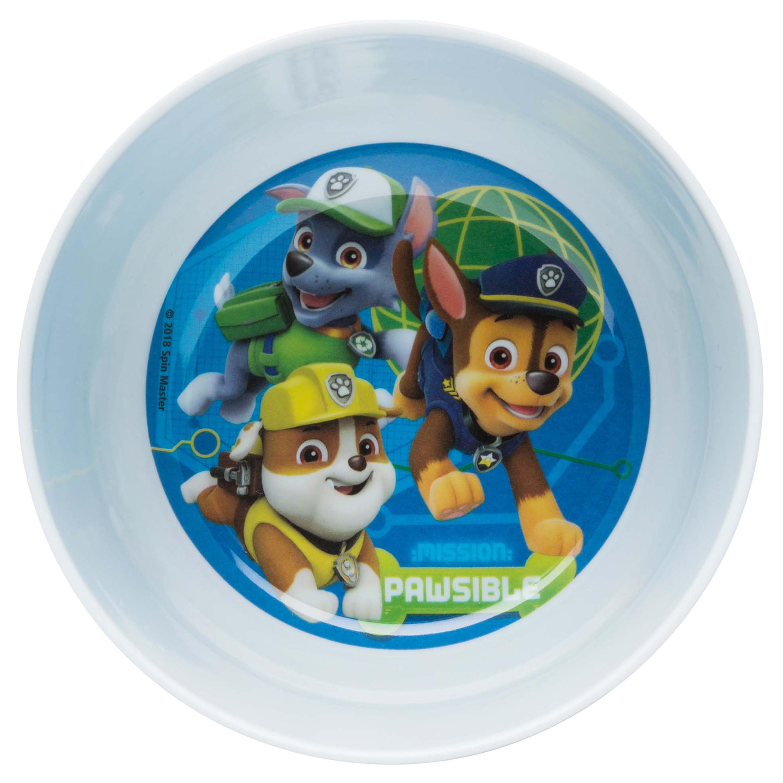 Paw Patrol Kids Dinnerware Set, Chase, Rubble, Rocky, Marshall, Zuma & Skye, 3-piece set slideshow image 8