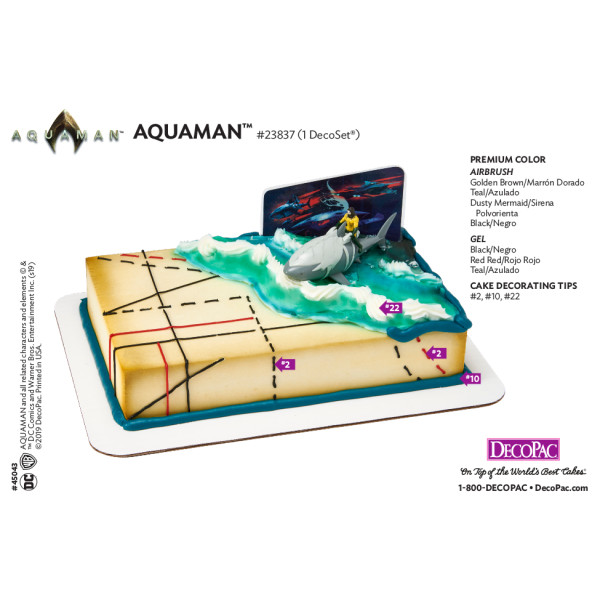 Aquaman™ Cake Decorating Instruction Card