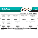 "Drain Plugs Assortment (3/8"" thru 1"")"