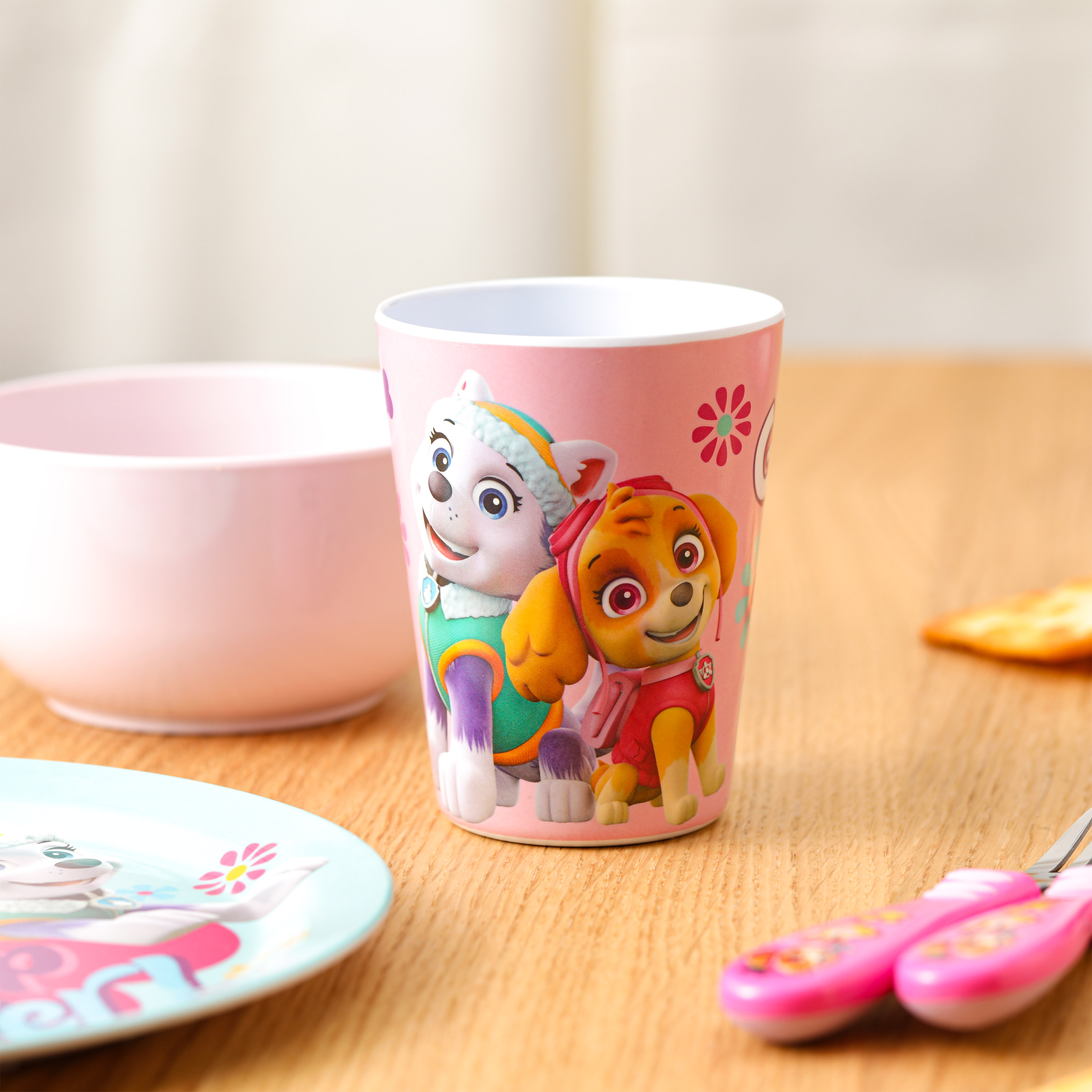 Paw Patrol Dinnerware Set, Skye and Everest, 5-piece set slideshow image 3