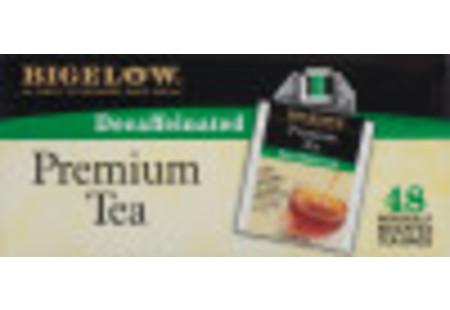 Side of Premium Decaffeinated Tea box