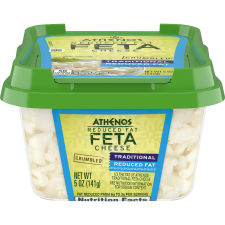 Athenos Crumbled Traditional Reduced Fat Feta Cheese 5 oz Tub