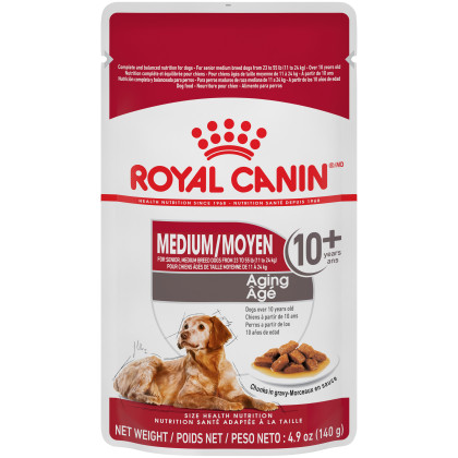 Royal Canin Size Health Nutrition Medium Aging 10+ Pouch Dog Food