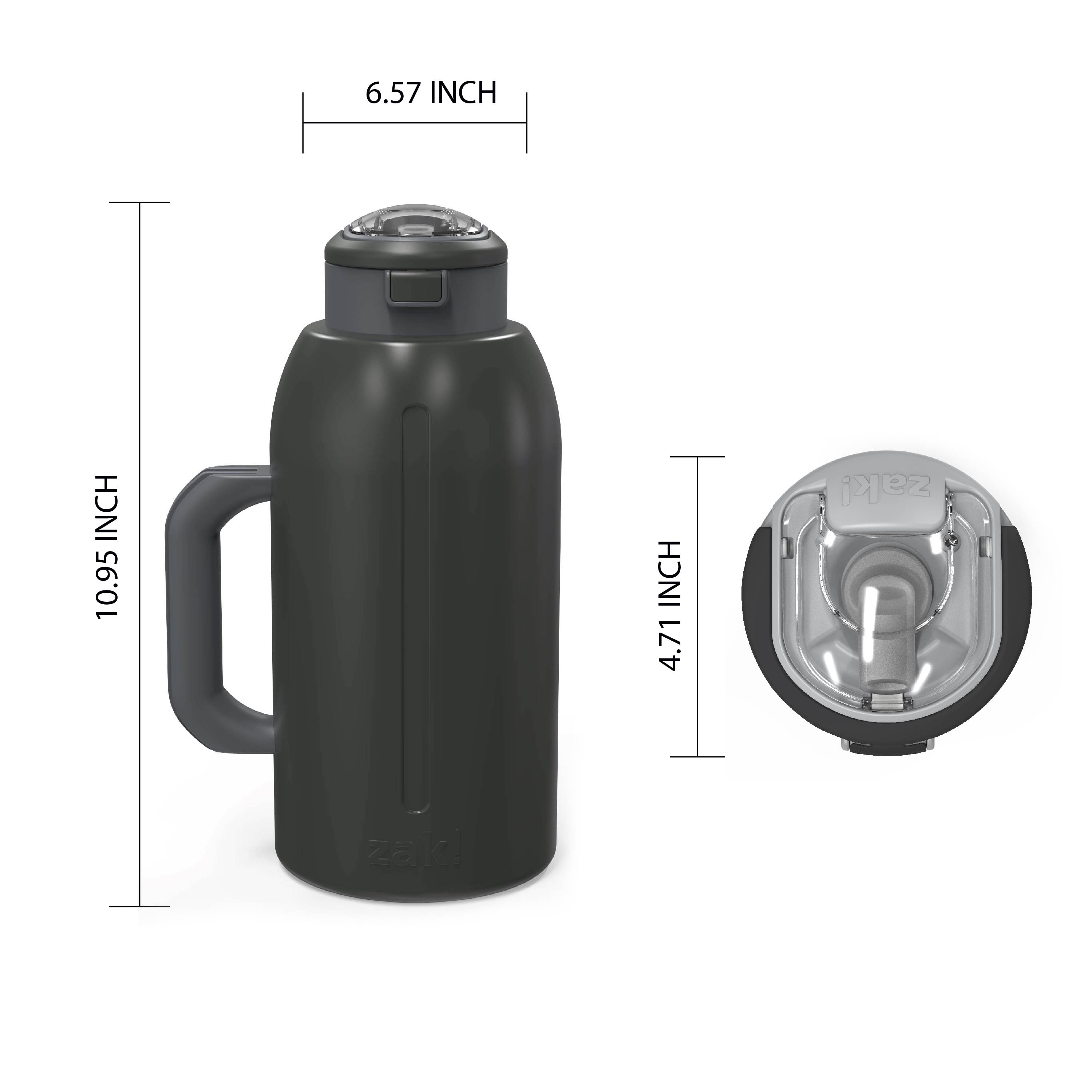Genesis 64 ounce Stainless Steel Water Bottles, Charcoal slideshow image 7