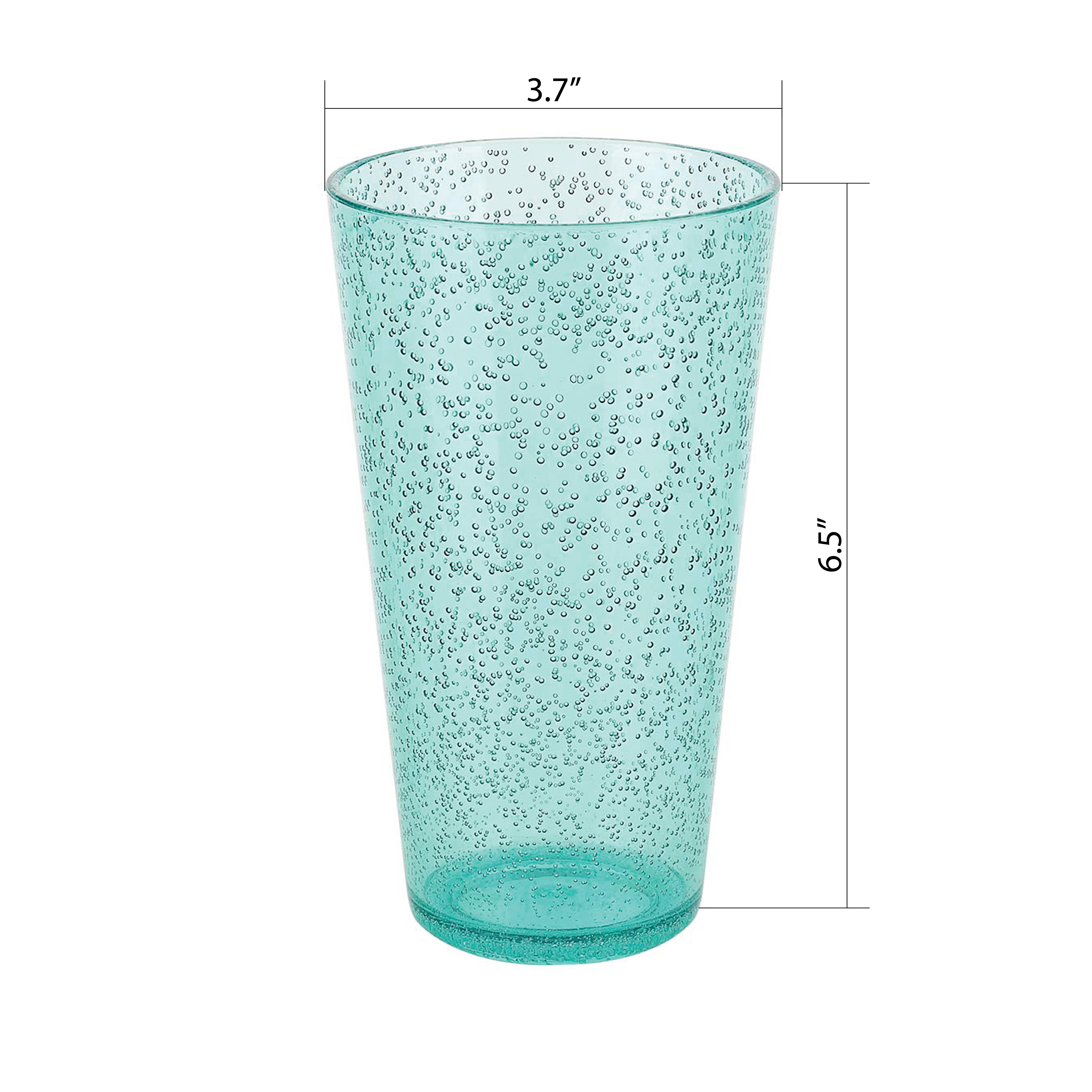 Spritz 23 ounce Highball Glass, Mint, 6-piece set