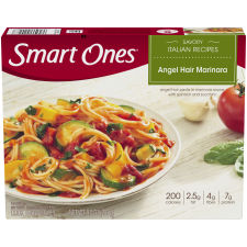 Smart Ones Savory Italian Recipes Angel Hair Marinara 9 oz Box
