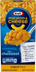 Kraft Original Flavor Macaroni & Cheese Dinner 7.25 oz Box image