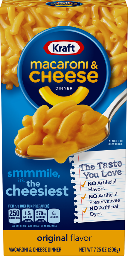 Kraft Original Flavor Macaroni & Cheese Dinner 7.25 oz Box