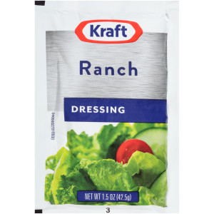 KRAFT Ranch Salad Dressing, 1.5 oz. Single Serve Packets (Pack of 60) image